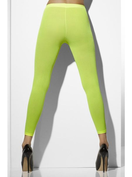 Opaque Footless Tights - Neon Green